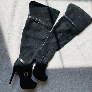 *NWOT* JustFab Over The Knee Suede Boots